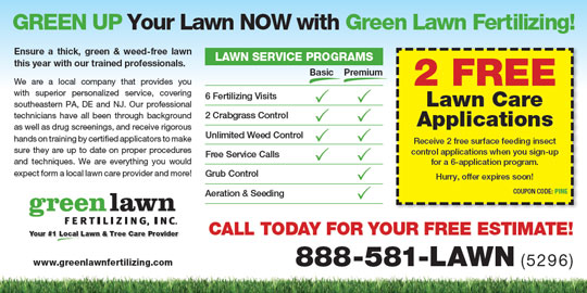 Screenshot of Lawn Care Direct Mailer