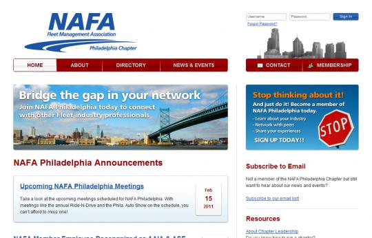 Screenshot of nafaphiladelphia.org