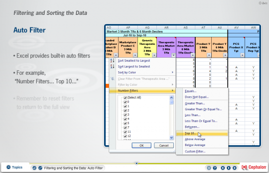 Screenshot of Territory Management